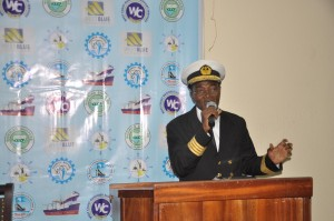 Capt William Wricketts – Head, Maritime Safety Department at the Regional Maritime University – Ghana. He represented his Vice Chancellor